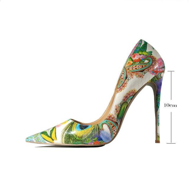 Pumps, Doris peacock multi color pointed heels