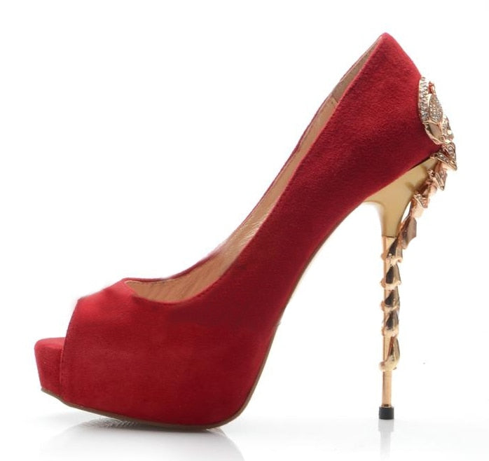 Pumps, Nova scorpion peep toe heels
