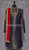 BROCADE NAVY BLUE SHERWANI