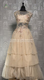 CREAM NET GOWN