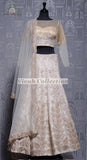 CREAM RAW SILK LEHNGA
