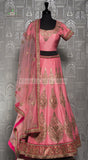 LIGHT PINK SILK LEHENGA