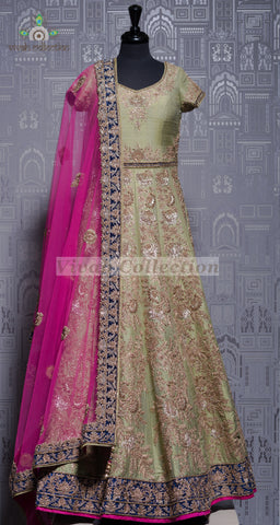 PINK RAW SILK REG