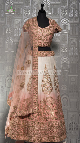 DARK MEHROON SILK LEHNGA
