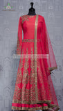 PINK RAW SILK GOWN