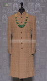 RAW SILK ANTIQUE DORI WORK SHERWANI