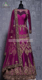 RAW SILK PURPLE GOWN