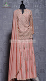 SILK PEACH SHARARA SUIT