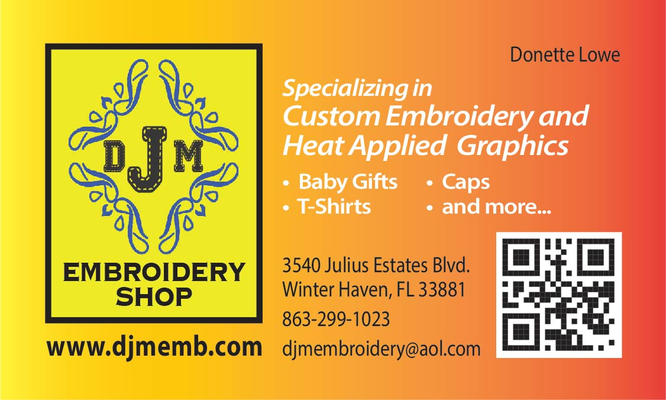 DJM Embroidery Shop