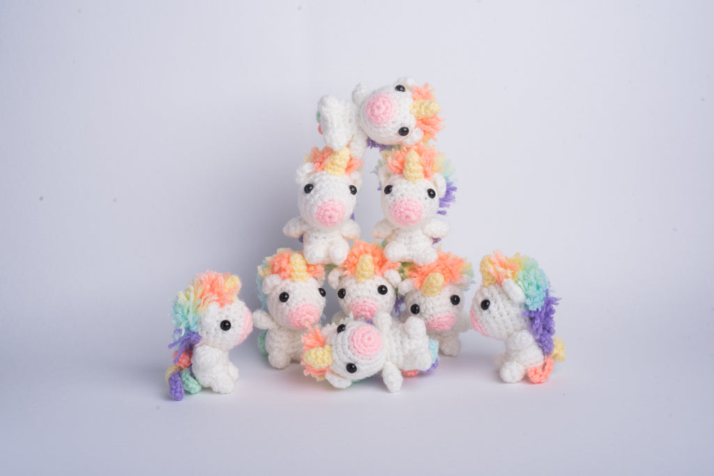 Tiny Rabbit Hole – Amigurumi Lazy Rainbow Unicorn Baby Picomaru