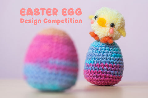 tiny rabbit hole crochet competition design easter egg cute prize beginner worldwide singapore