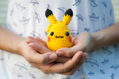 tiny rabbit hole - pikachu pokemon amigurumi crocheted doll