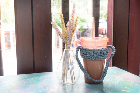 tiny rabbit hole - crochet workshop handmade craft knit singapore beginner best cup hold eco friendly less waste reusable