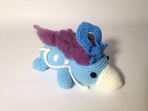old version Suicune amigurumi - tiny rabbit hole