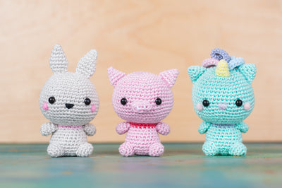 tiny rabbit hole - animal kingdom bunny pig kitty unicorn basic craft diy handmade knitting crochet cute amigurumi workshop