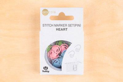 Tiny Rabbit Hole - Tulip Stitch Marker Set(Pin) Heart