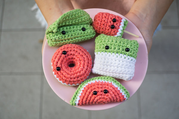 Tiny Rabbit Hole - National Day Kueh and Watermelon Cute Amigurumi Crochet Workshop