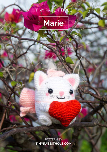 tiny rabbit hole - crochet knit ufufy marie from disney amigurumi pattern