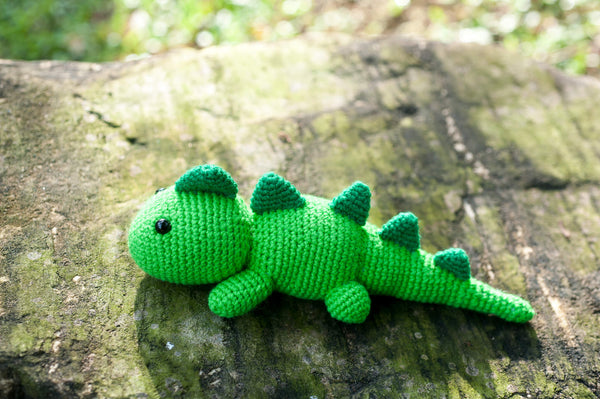 Lazy T-Rex Amigurumi Crochet Pattern - Tiny Rabbit Hole