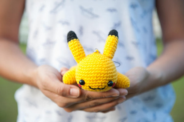 Lazy Pikachu from Pokemon Amigurumi Crochet Pattern - Tiny Rabbit Hole