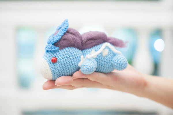 Lazy Suicune from Pokemon Amigurumi Crochet Pattern - Tiny Rabbit Hole