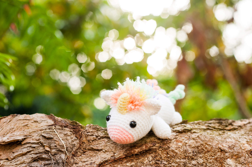 Tiny Rabbit Hole - Crochet Knit Lazy Rainbow Unicorn Amigurumi Classes in Singapore Chinatown