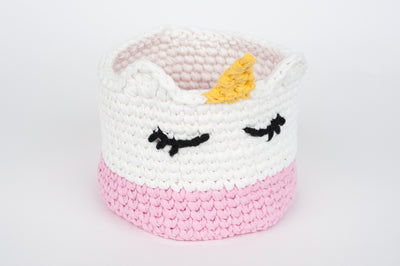 Tiny Rabbit Hole - Crochet Knitting Sakura Clutch Classes in Singapore Chinatown unicorn basket pink rainbow