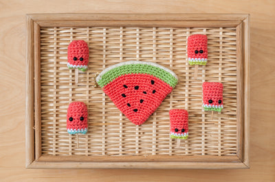 Tiny Rabbit Hole - Crocheted Watermelon Pouch with Ice Cream Workshop