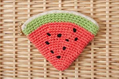 Tiny Rabbit Hole - Crocheted Watermelon Pouch Workshop