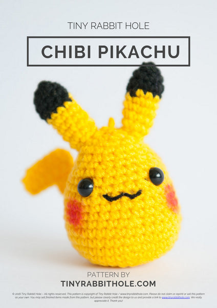 tiny rabbit hole - crochet your favourite amigurumi bootcamp Workshop pink chibi pikachu from pokemon