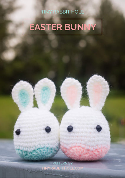 Tiny Rabbit Hole - Knitting Knit Crochet Amigurumi Crocheted Easter bunnies amigurumi Doll crochet pattern