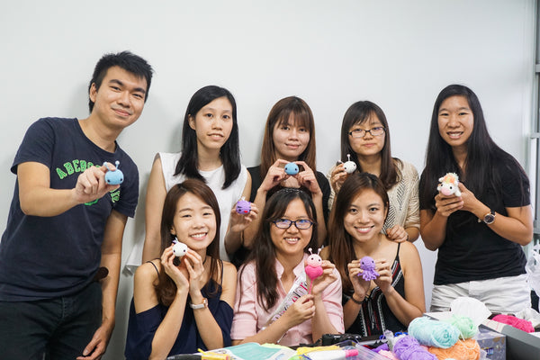 Tiny rabbit hole - best top knit knitting crochet amigurumi doll bootcamp workshop lesson singapore