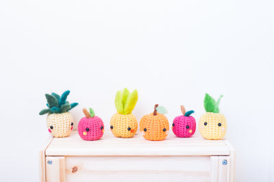 tiny rabbit hole - best craft basic beginner crochet knit felting pineapple orange apple fruits amigurumi workshop classes lesson singapore