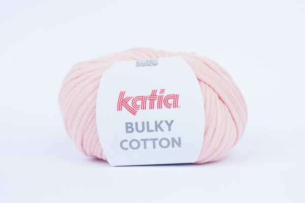 tiny rabbit hole - katia bulky cotton yarn candy pink cotton polyamide from spain