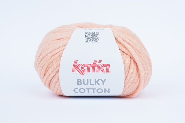 tiny rabbit hole - katia bulky cotton yarn peach pink cotton polyamide from spain