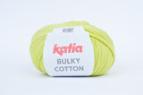 tiny rabbit hole - katia bulky cotton yarn wasabi green cotton polyamide from spain