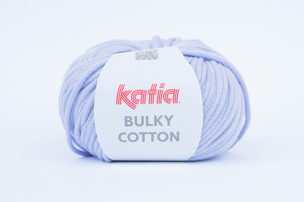 tiny rabbit hole - katia bulky cotton lavender blue cotton polyamide from spain