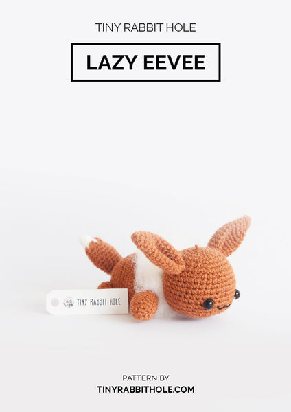 Tiny Rabbit Hole - Crochet knit pokemon eevee amigurumi pattern