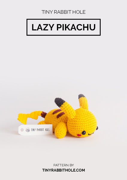 tiny rabbit hole - crochet your favourite amigurumi bootcamp singapore Workshop lazy pikachu from pokemon