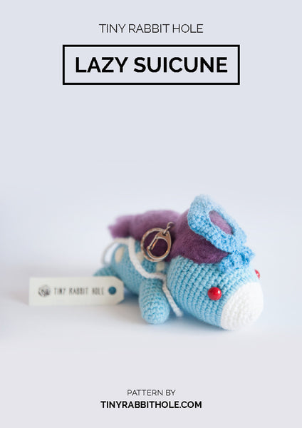 Tiny Rabbit Hole - Knitting Knit Crochet suicune pokemon Amigurumi pattern