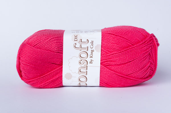 tiny rabbit hole - King Cole Cottonsoftton Double Knit is super soft cotton yarn. Cottonsoftton Double Knit is the ideal choice for crochet and knitting beanies, clothes, shoes and amigurumi for baby.