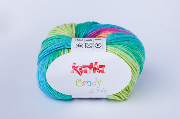 tiny rabbit hole - katia candy yarn for crocheting and knitting baby beanies, clothes, shawls and amigurumi