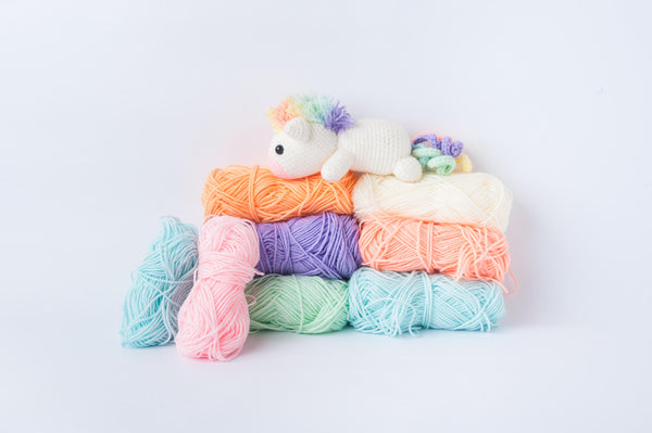 Colourful Amigurumi Crown Yarn