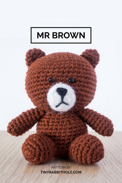tiny rabbit hole - crochet your favourite amigurumi bootcamp singapore Workshop lesson course brown bear from line