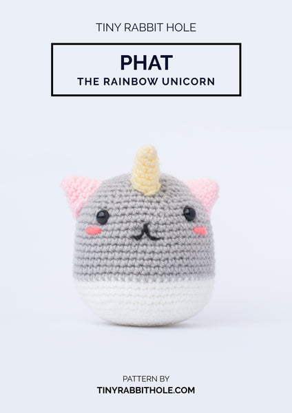 tiny rabbit hole - best top knit crochet phat the rainbow unicorn amigurumi crochet pattern singapore