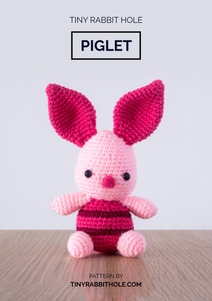 tiny rabbit hole - crochet knit piglet from winnie the pooh amigurumi crochet pattern