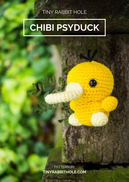 tiny rabbit hole - crochet your favourite amigurumi bootcamp singapore Workshop chibi psyduck from pokemon