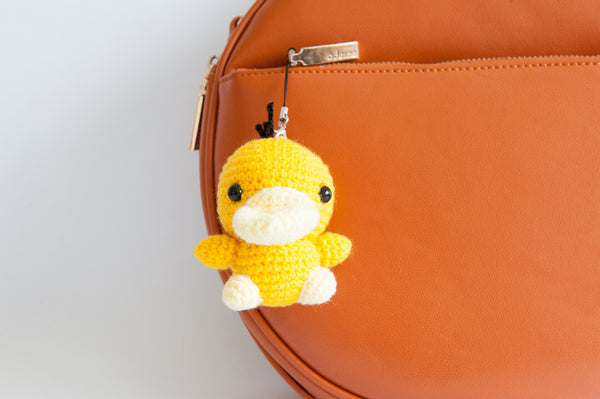 tiny rabbit hole - crochet knit pokemon psyduck bag amigurumi pattern