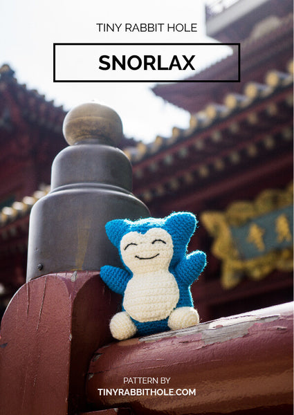 tiny rabbit hole - crochet your favourite amigurumi bootcamp singapore Workshop lesson course snorlax from pokemon