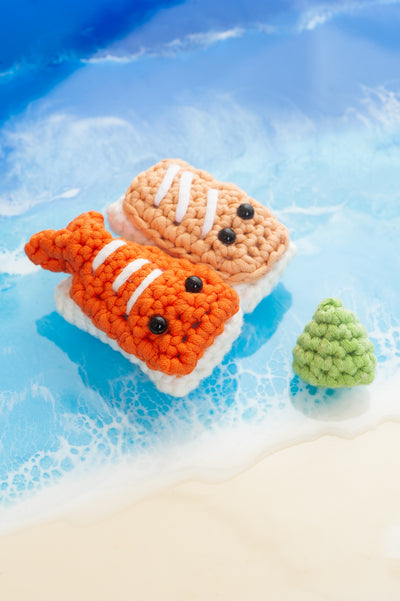 Tiny Rabbit Hole – sushi food lover amigurumi foodie ebi salmon tamago tamagoyaki cute toys crochet plush handmade singapore craft